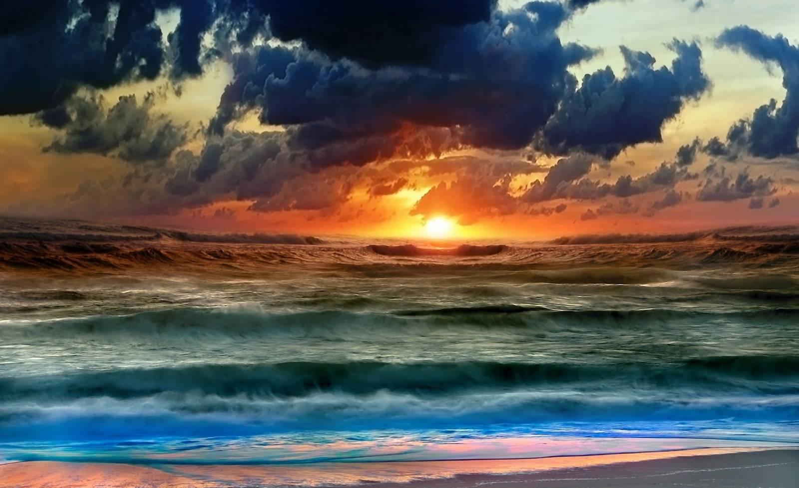 бушующее море фото